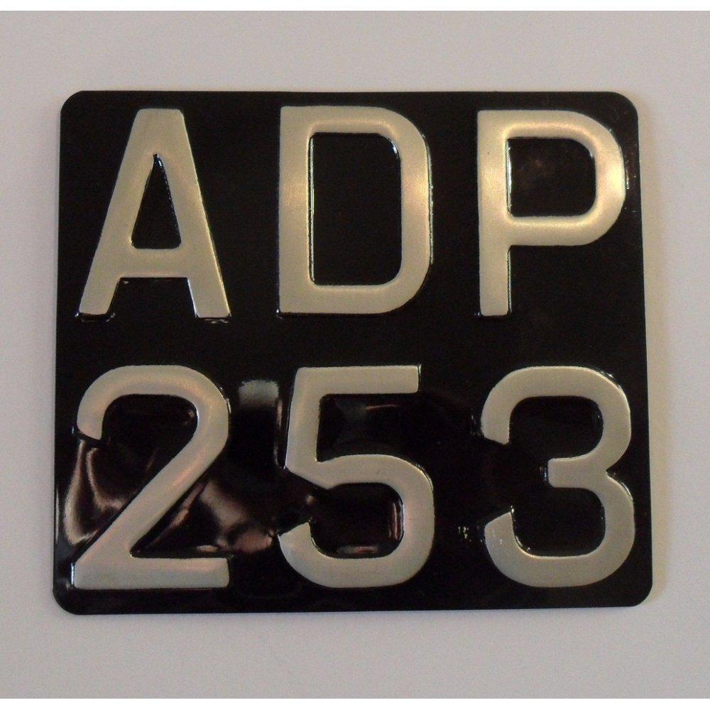 Vintage Number Plate DIE Pressed Aluminium Stove Enamel 7 ...