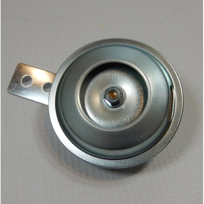12V Horn Universal for Classic Motorcycles Zink Plated 70mm Diameter