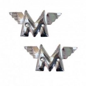 A.J.S / Matchless Tank Badge Chrome Sold as a Pair OEM No 01-1928