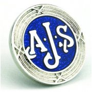 AJS Enamel Pin Badge for Classic Motorcycle Made in UK