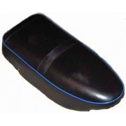 AJS Motorcycle Seat (1956-60) Heavy Weights Blue Piping