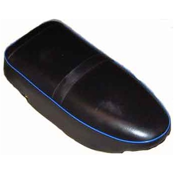 AJS / Matchless Classic AJS Motorcycle Seat (1956-60) Heavy Weights Blue Piping OEM 02-2735