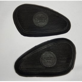 Classic Motorcycle AJS Knee Grip Rubbers Pair With AJS Logo