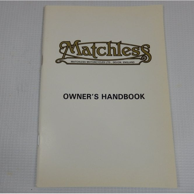 AJS / Matchless Genuine Original Harris Matchless Owners Handbook OEM No 63-0075