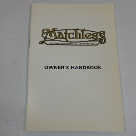 Genuine Original Harris Matchless Owners Handbook OEM No 63-0075