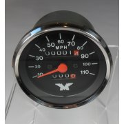 Harris Matchless Speedometer Black Face 10 - 110 MPH OEM No 63-0052