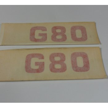 AJS & Matchless Matchless G80 Transfers in Red Sold as a Pair OEM No 63-0045
