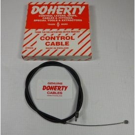"AMAL Barb Panther Model 100 Throttle Cable Genuine Doherty 25""Outer Cable Length"