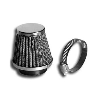 AMAL Chrome Air Filter Universal 48mm For Classic Motorcycle With Fixing Clamp