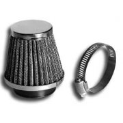Chrome Air Filter Universal 48mm For Classic Motorcycle With Fixing Clamp