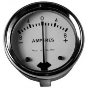 "Ammeter 1 3/4"" 8-0-8 for Classic Motorcycle"