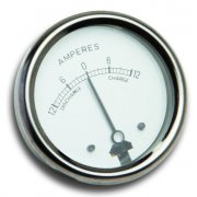 "Ammeter 2"" 12-0-12 for Classic Motorcycle"