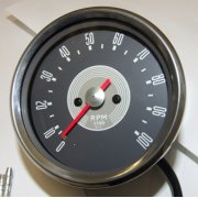BSA A50/A65 Tachometer Head Grey face Drive ratio 3-1 With Bulb & Socket holder