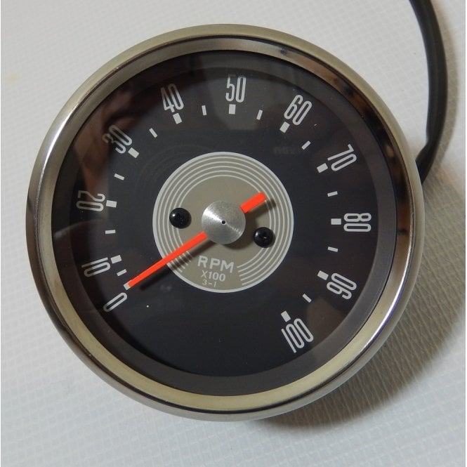BSA A50/A65 Tachometer Head Grey face Drive ratio 3-1 With Bulb & Socket holder