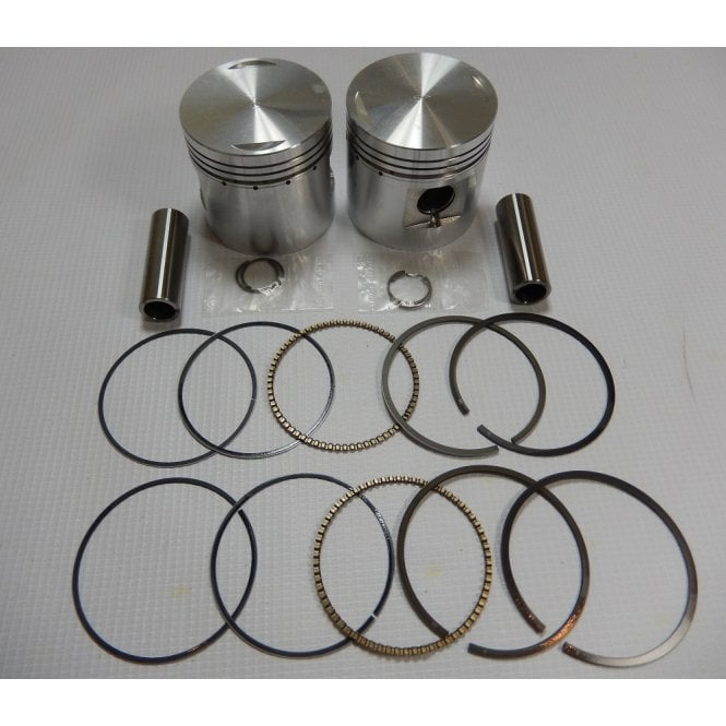 BSA A7/A10 650cc Piston Set +40 Size Comp Ratio 7.25:1 IMD Pistons England