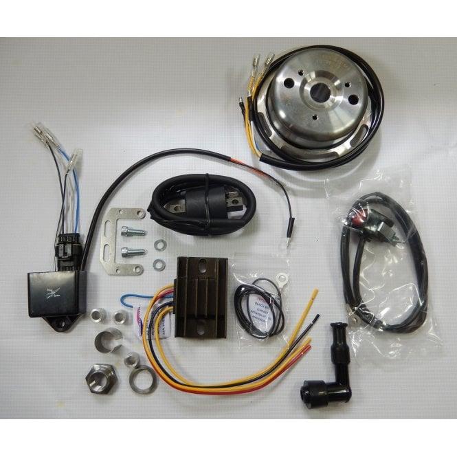 BSA B25, B40,50,C15 Matchless 350, Royal Enfield 350 HT-CDI Ignition & Lighting Kit UK Made