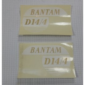 BSA Bantam Classic Motorcycle Transfers D14/4 Made in UK (Pair)