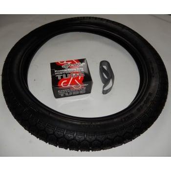 BSA Bantam, Classic Tyre Tube & Rim Tape Set 300-18