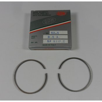 BSA Bantam D1 Piston Ring Set +20 Made by GPM Italy