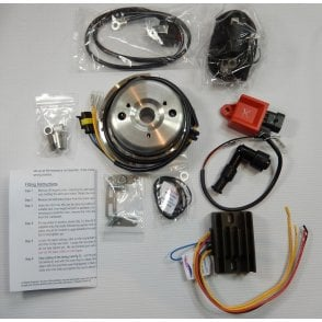 BSA Bantam D10, D14, B175 Stator / Electronic CDI Ignition Kit UK Made 6v & 12V