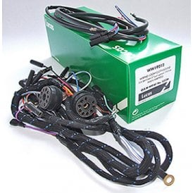 BSA Bantam D10 / D14 Lucas Wiring Harness Fully Braided With Switch Sockets S4609