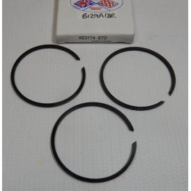 BSA Bantam D5, D7 Piston 3 Ring Set Standard Size UK Supplied