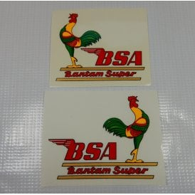 "BSA Bantam D7/D10 Decal Set (Pair) ""BSA Bantam Super Transfers"""