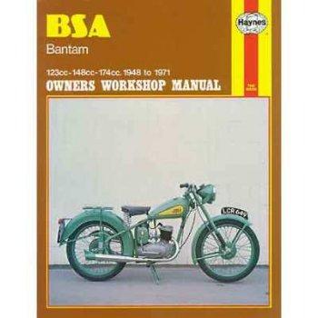Haynes BSA Bantam Genuine Manual Covers D1,D3,D5,D7,D10,D14 1948 -68