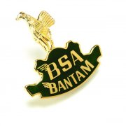 BSA Bantam Pin Badge for Classic Motorcycle Gold & Green Made in UK