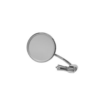 BSA Bar End Mirror, Stainless Steel Round for Classic Motorcycle