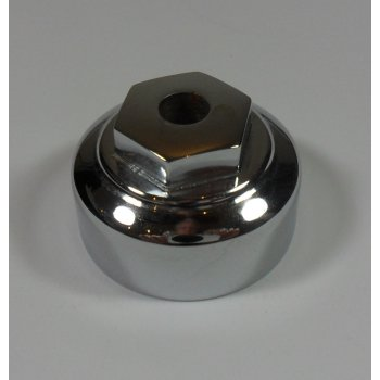 BSA At/SS Top Yoke Centre Nut With Hole Chrome OEM No 67-5024