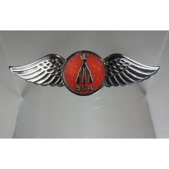 BSA Winged Pin Bade Red & Black Enamel Made in England