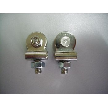 BSA Classic Bike Front Number Plate Fixing Studs Finished in Chrome Sold as a Pair