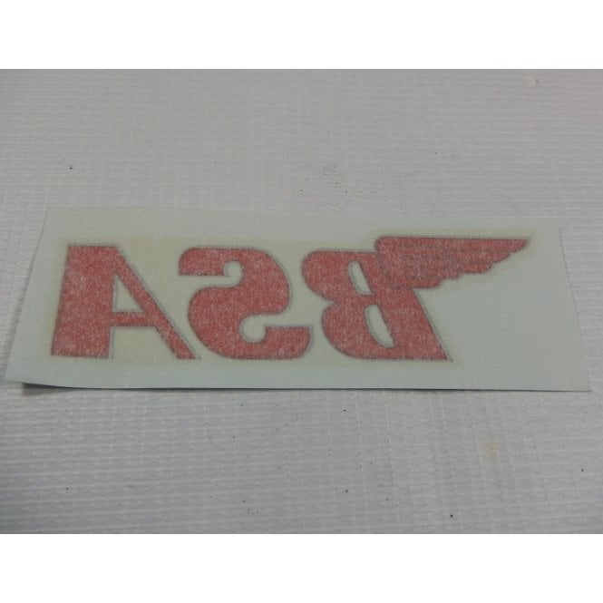 BSA Classic Motorcycle Transfer Red Letters Made in UK Sold in Singles