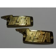 BSA Early Brass Tank Badges (Pair) Made in UK Genuine Part