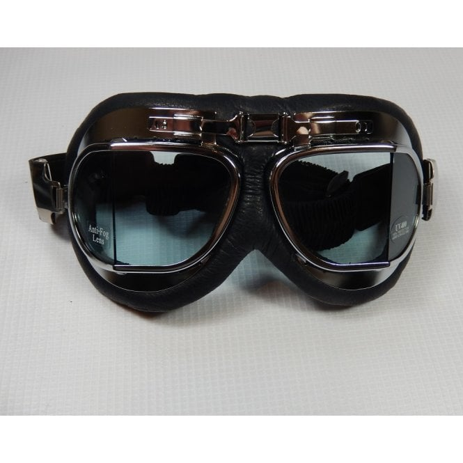 BSA Emgo Leather/Chrome Goggles