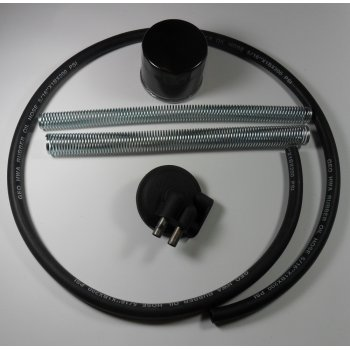 BSA External Oil Filter Set, Lines, Clips, Filter, Housing & Rubber Hose
