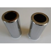 "Girling Chrome Shock Obsorber Covers 4"" Sold as a Pair Made in UK"