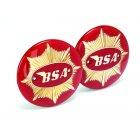 BSA Goldstar Round Tank Badges Sold as a Pair OEM No 65-8228, 65-8193