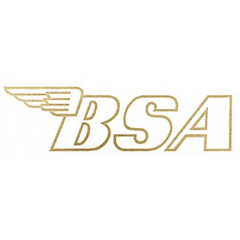 BSA Logo Classic Motorcycle Transfer Gold Lettering