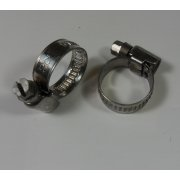 Motor Cycle Stainless Steel Hose Clips 12 - 22mm (Sold in Pairs)