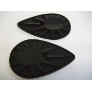 BSA Pear Shaped Tank Badges Rubber Backing (Pair) OEM No 40-8124