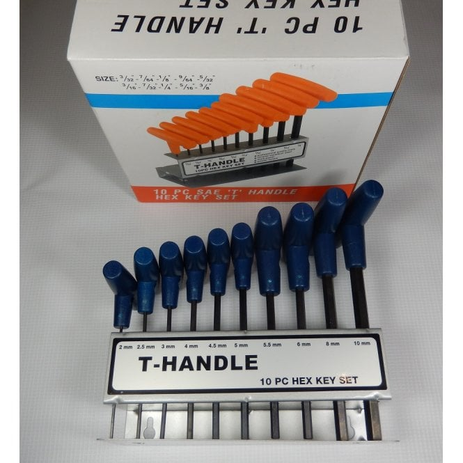 BSA Professional T-handle Hex Key Set With Free Stand Holder 11 Piece