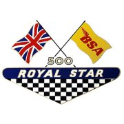 BSA Royal Star Flag Classic Motorcycle Transfer