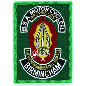 BSA Sew on Badge for Classic Motorcycle