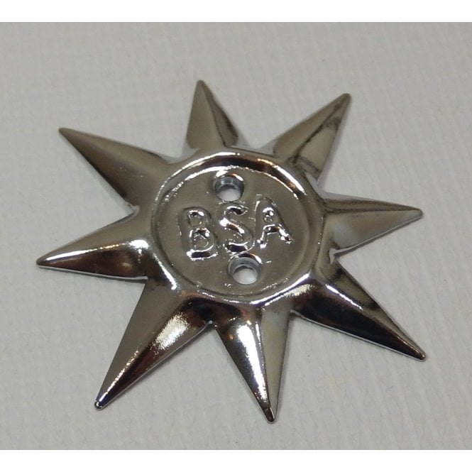 BSA Star Name Plate Badge Finished in Chrome OEM No 40-0231, 68-0231