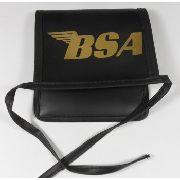 BSA Tool Pouch Black Synthetic Leather Finish With Gold Lettering