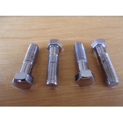 BSA / Triumph Handlebar Bolt Set of 4 Polished Stainless Steel for Classic Motorcycle
