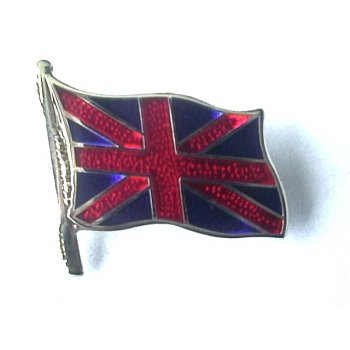 BSA Union Jack Enamel Pin Badge For Classic Motorcycle