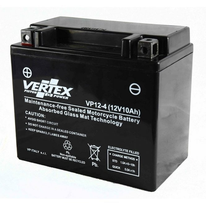 BSA Vertex VP12-4 Sealed Gel Battery 12V Replaces CTX12-BS Maintenance Free